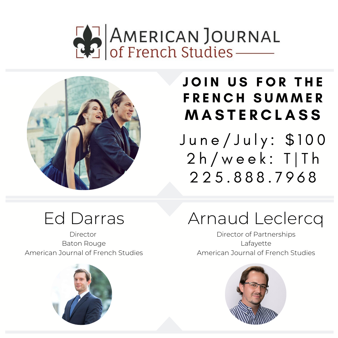 2020 French Summer Masterclass: July edition